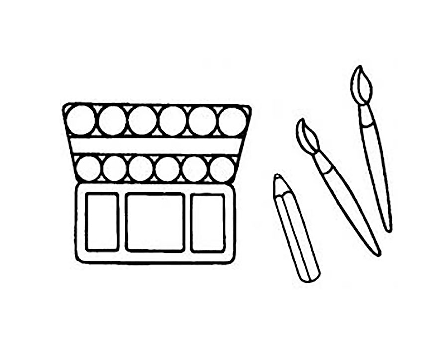 Paints coloring pages to download