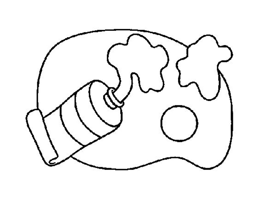 Paints coloring pages to download and print for free
