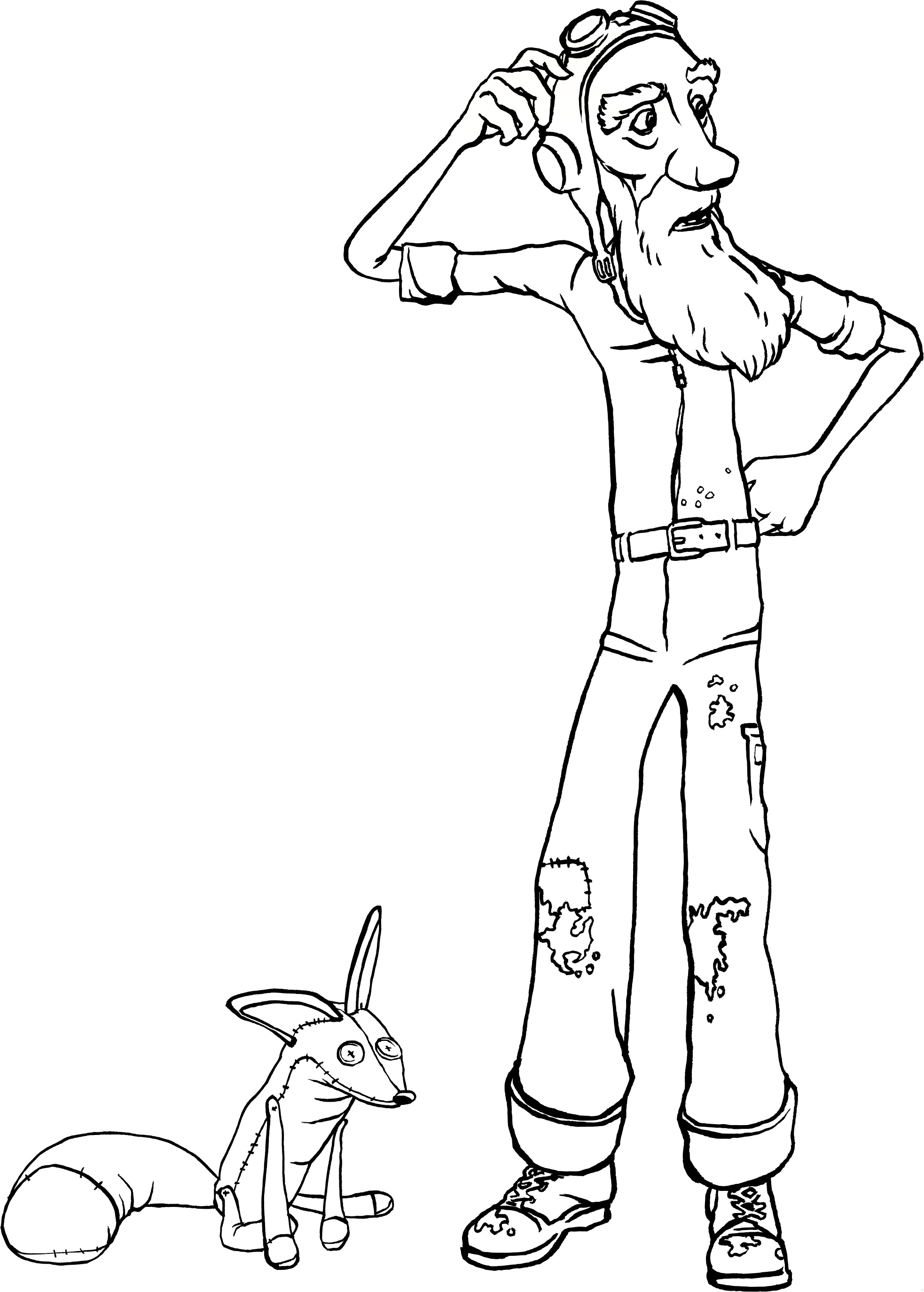 Le petit prince coloring pages to download and print for free - Coloriage petit renard ...