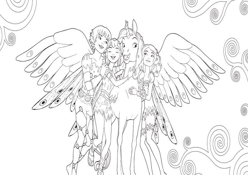 mia and me coloring pages to download and print for free