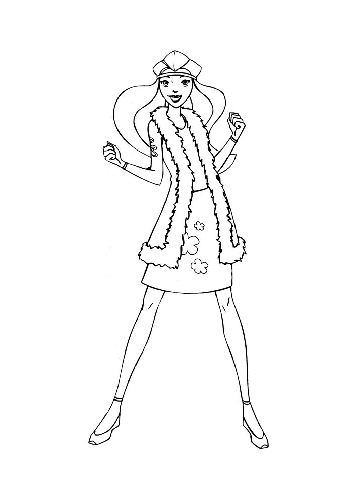 coloring pages totally spies - photo#45
