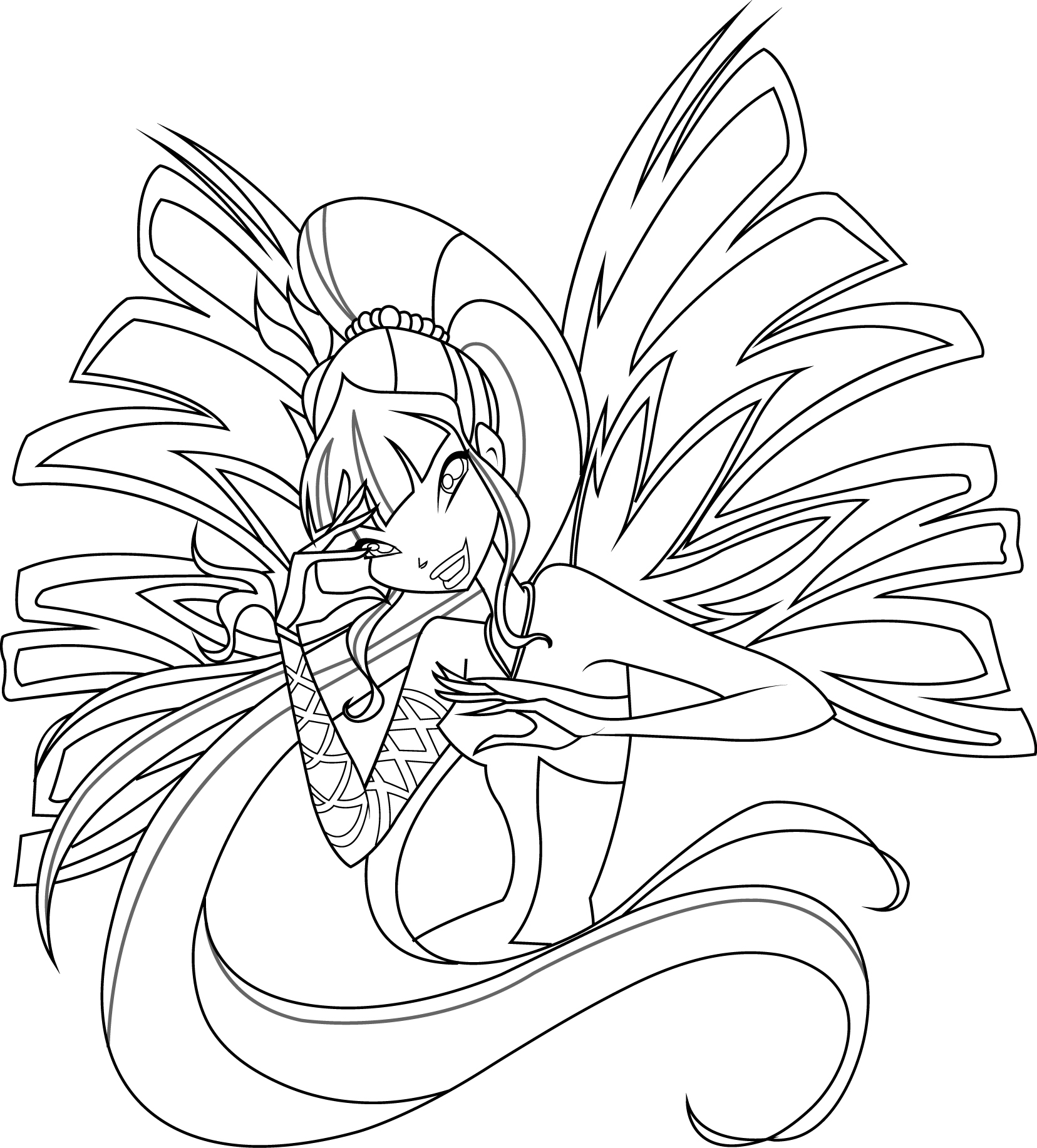 Winx Sirenix coloring pages to