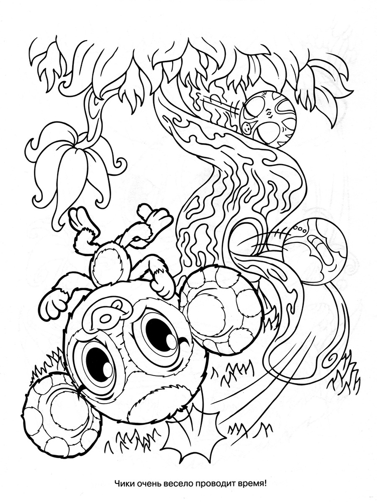 Zoobles coloring pages to download