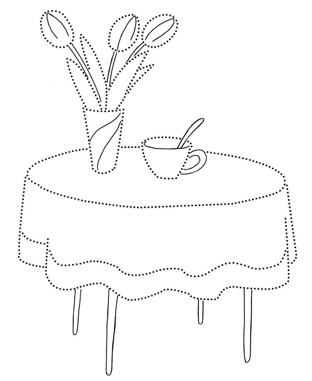 Furniture coloring page for kids