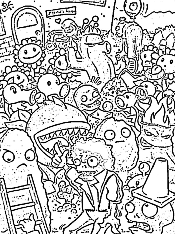 plants vs zombies coloring pages to download and print for ...