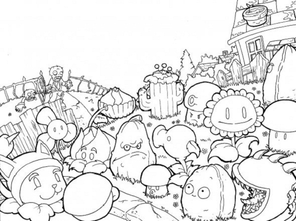 plants vs zombies coloring pages and continue your acquaintance with characters of the game now you can take part in new fights protecting your farm