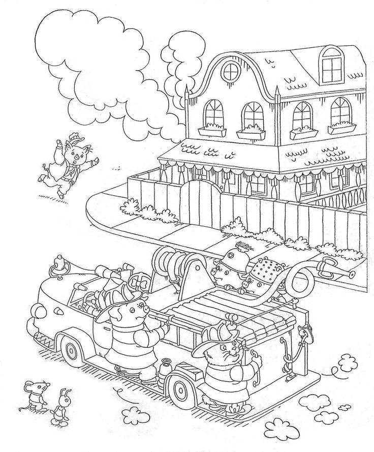 Richard Scarry Coloring Pages to download and print for free