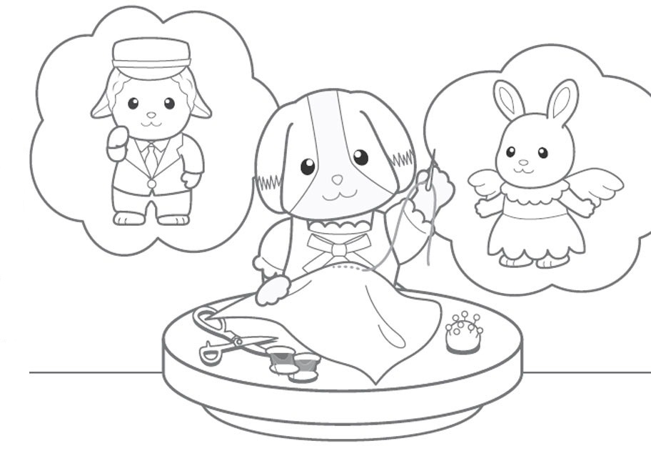 calico critters coloring pages printable - photo#18
