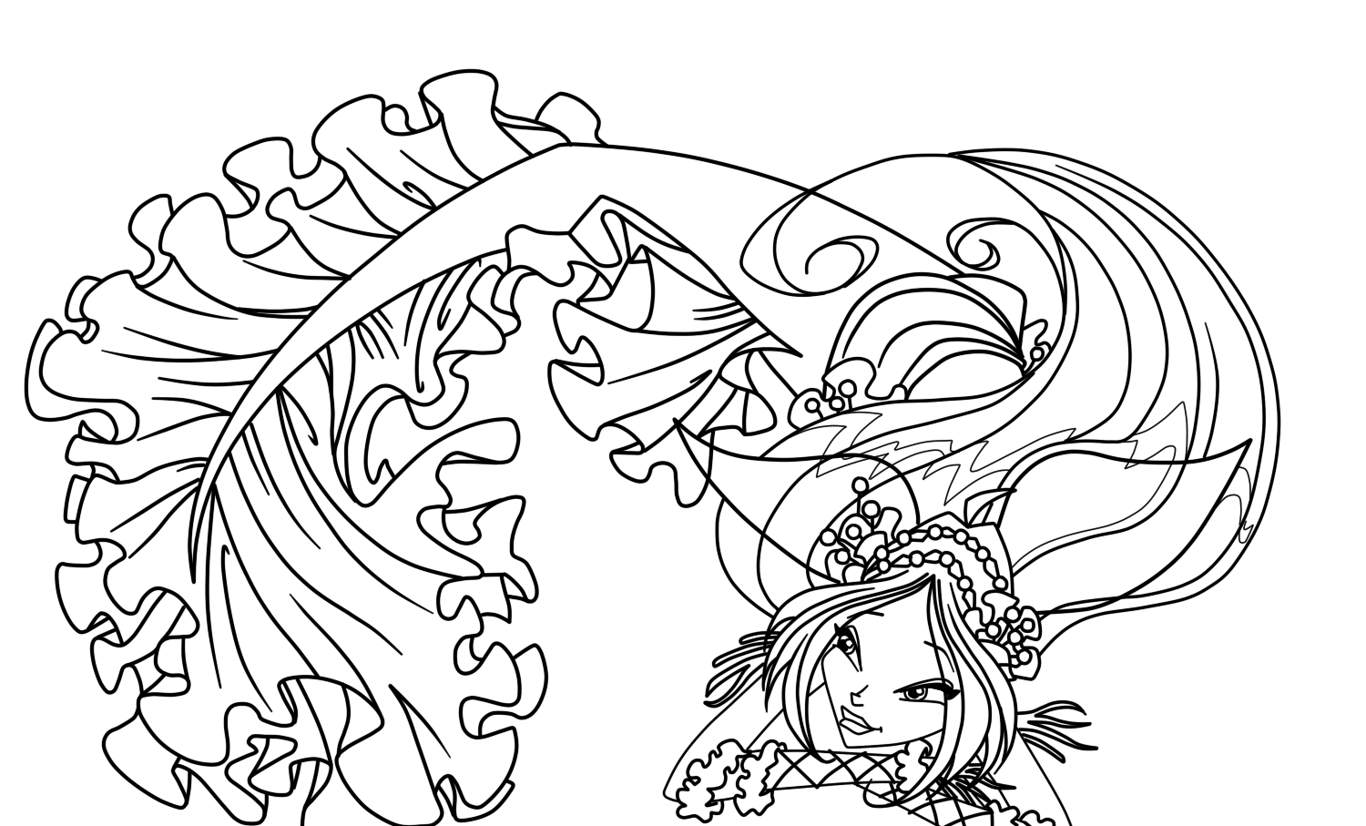 Winx mermaid coloring pages to print and download for free for Winx coloring pages printable