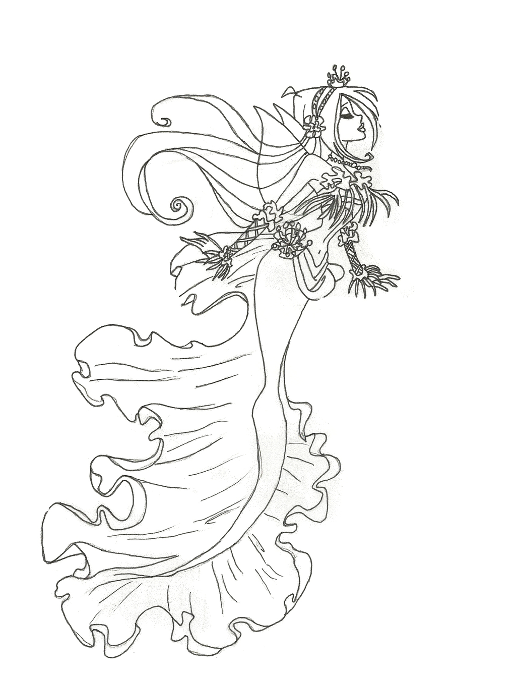 Winx mermaid coloring pages to print and download for free for Coloring page mermaid