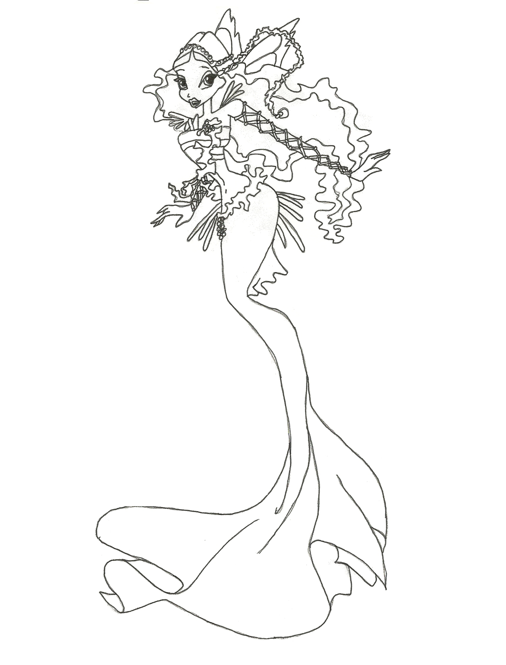 Winx Mermaid coloring pages, to print and download for free