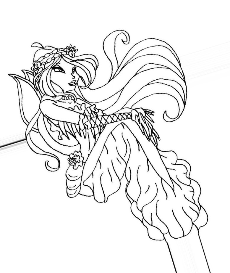 Winx Mermaid coloring pages to
