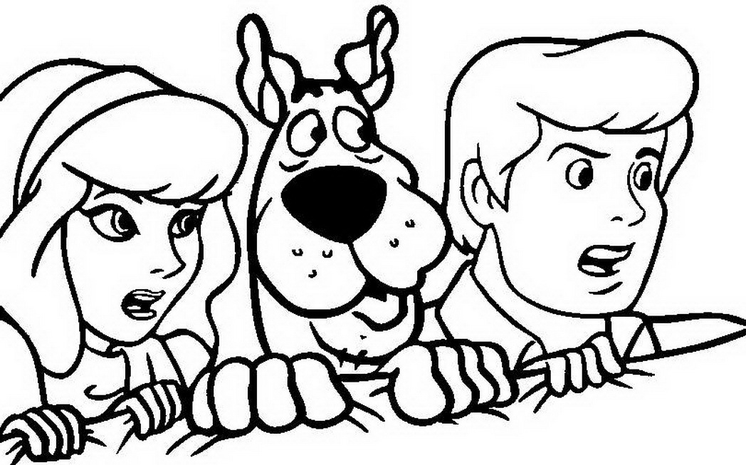 Scooby Doo Coloring Pages for childrens printable for free