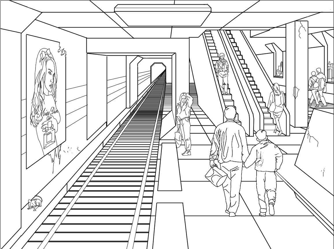 Metro coloring pages to download