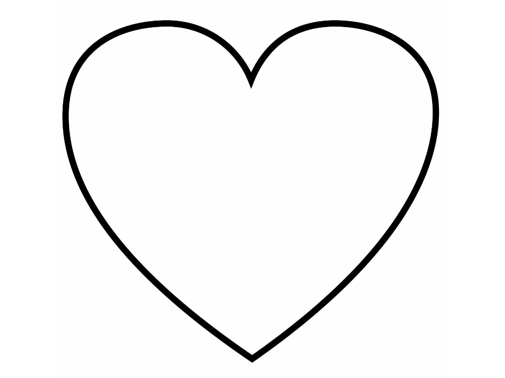 Heart coloring page for girls to