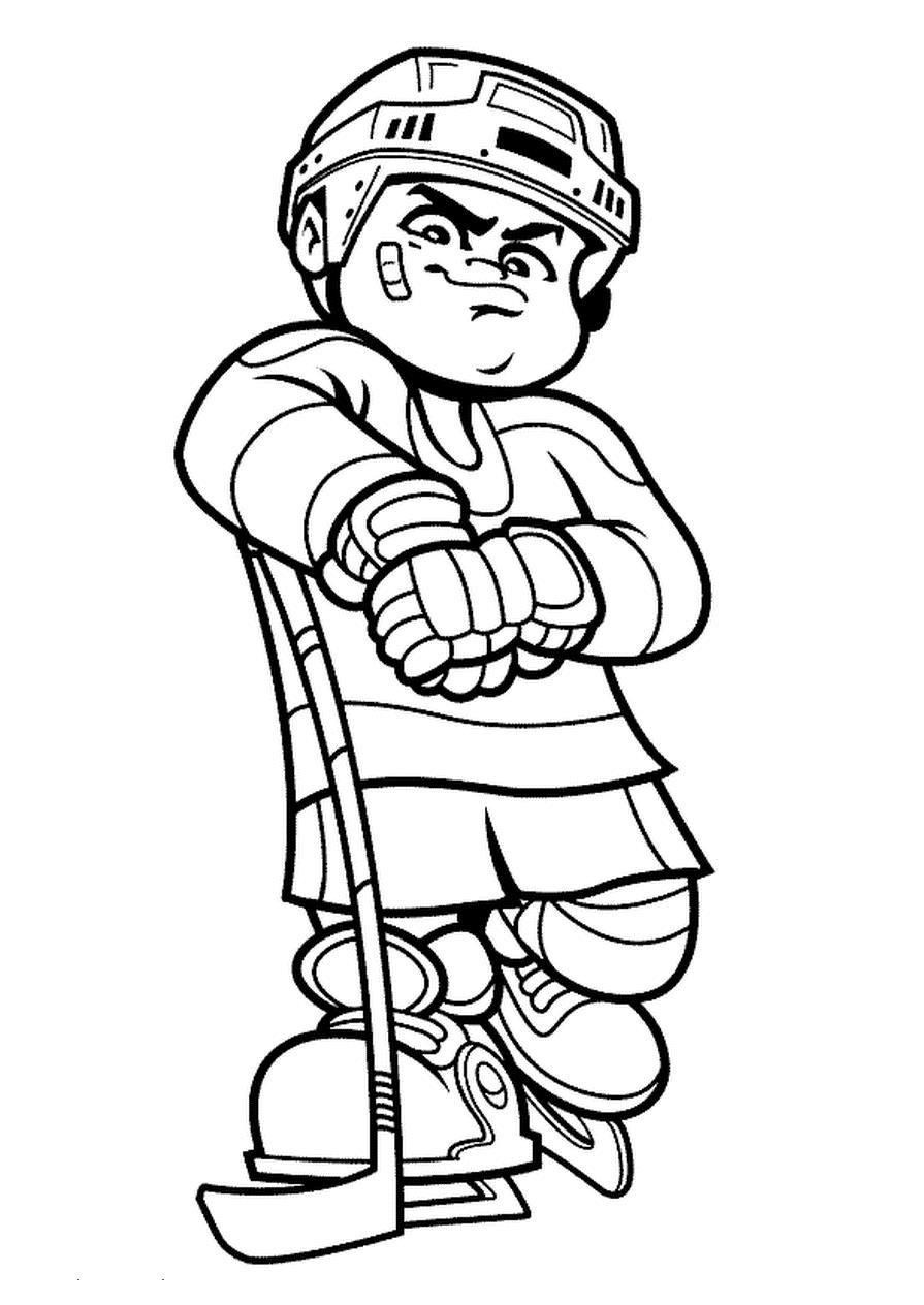 hockey players coloring pages | Hockey player coloring pages to download and print for free