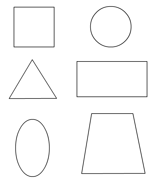Shapes Coloring Pages for childrens