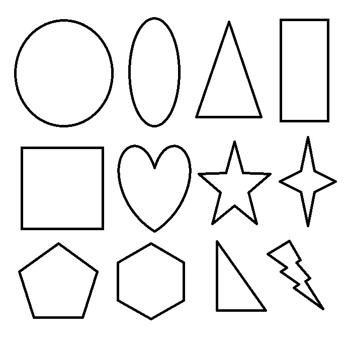 shapes coloring pages