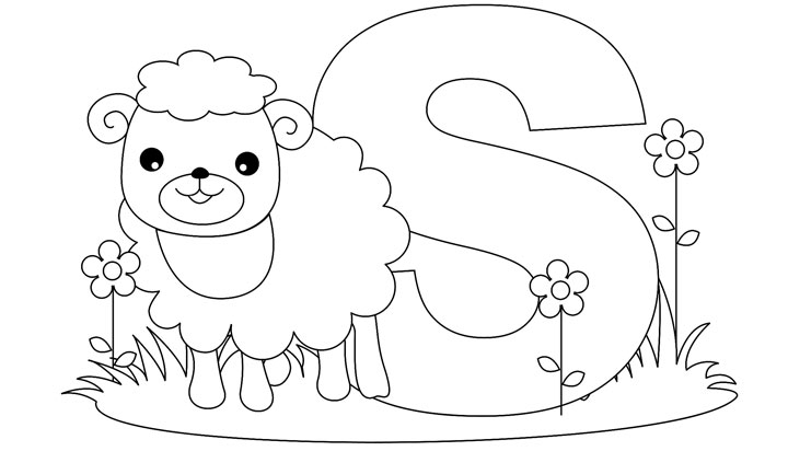 Letter S coloring pages to download and print for free