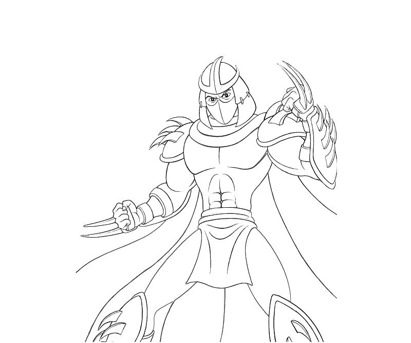 shredder coloring pages - photo#9