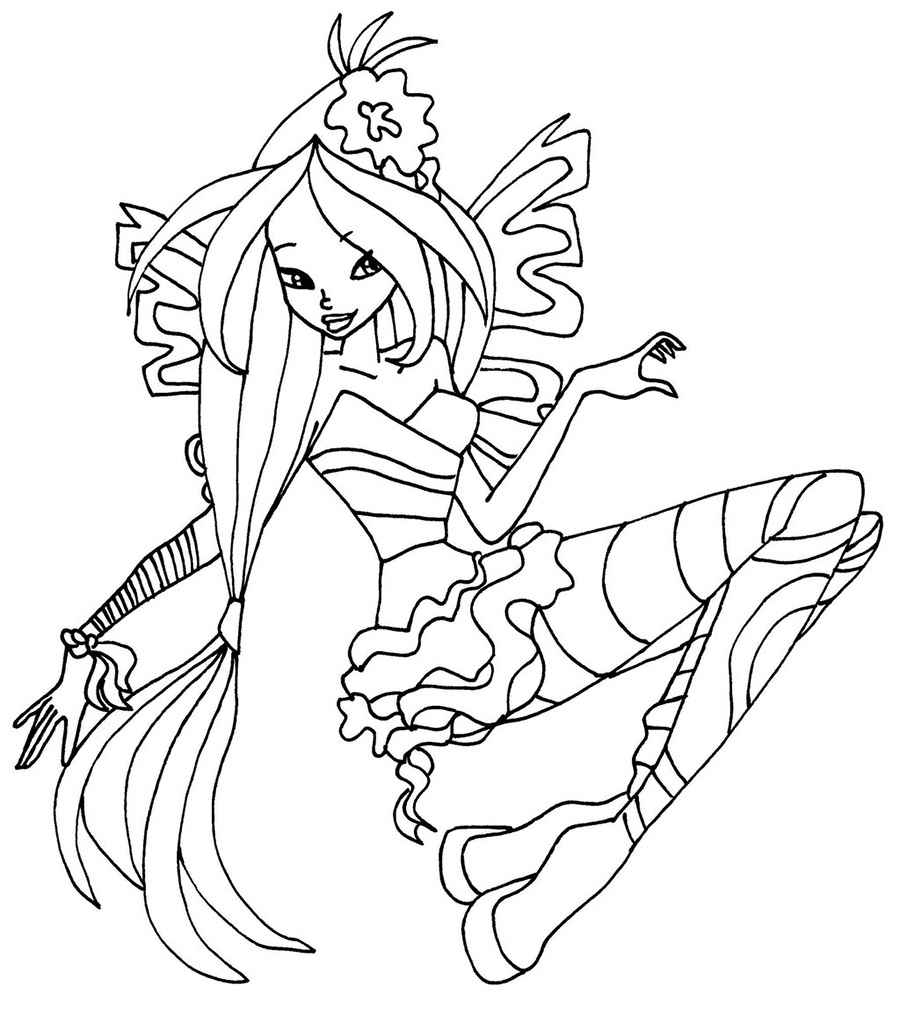 winx sirenix coloring pages to and print for free