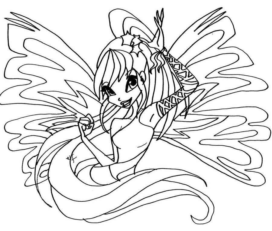 Winx sirenix coloring pages to download and print for free for Disegni winx sirenix da colorare