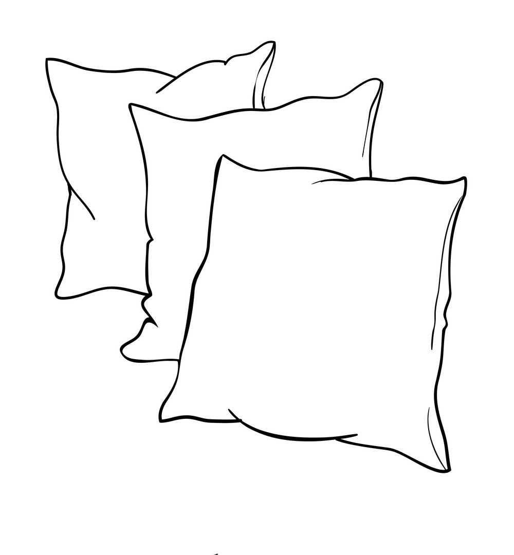 Pillow coloring pages to download