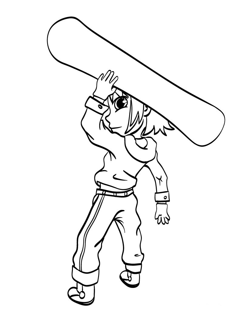 Snowboarding Coloring Pages for