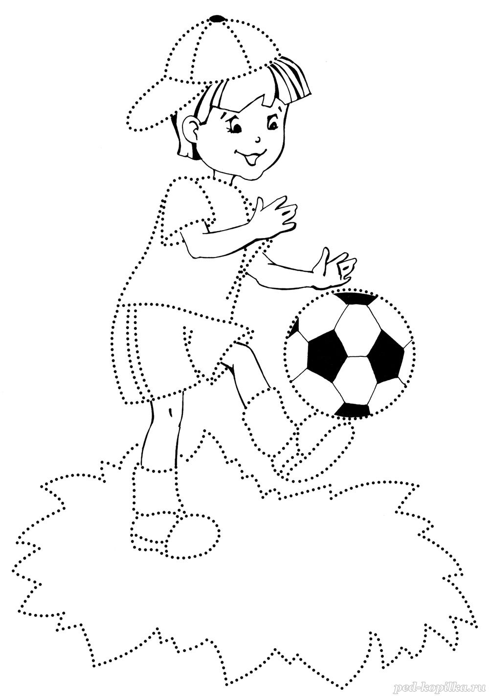 Soccer Coloring Pages for childrens printable for free