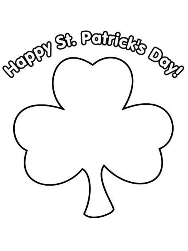 St Patrick's Day Coloring Pages for childrens printable ...