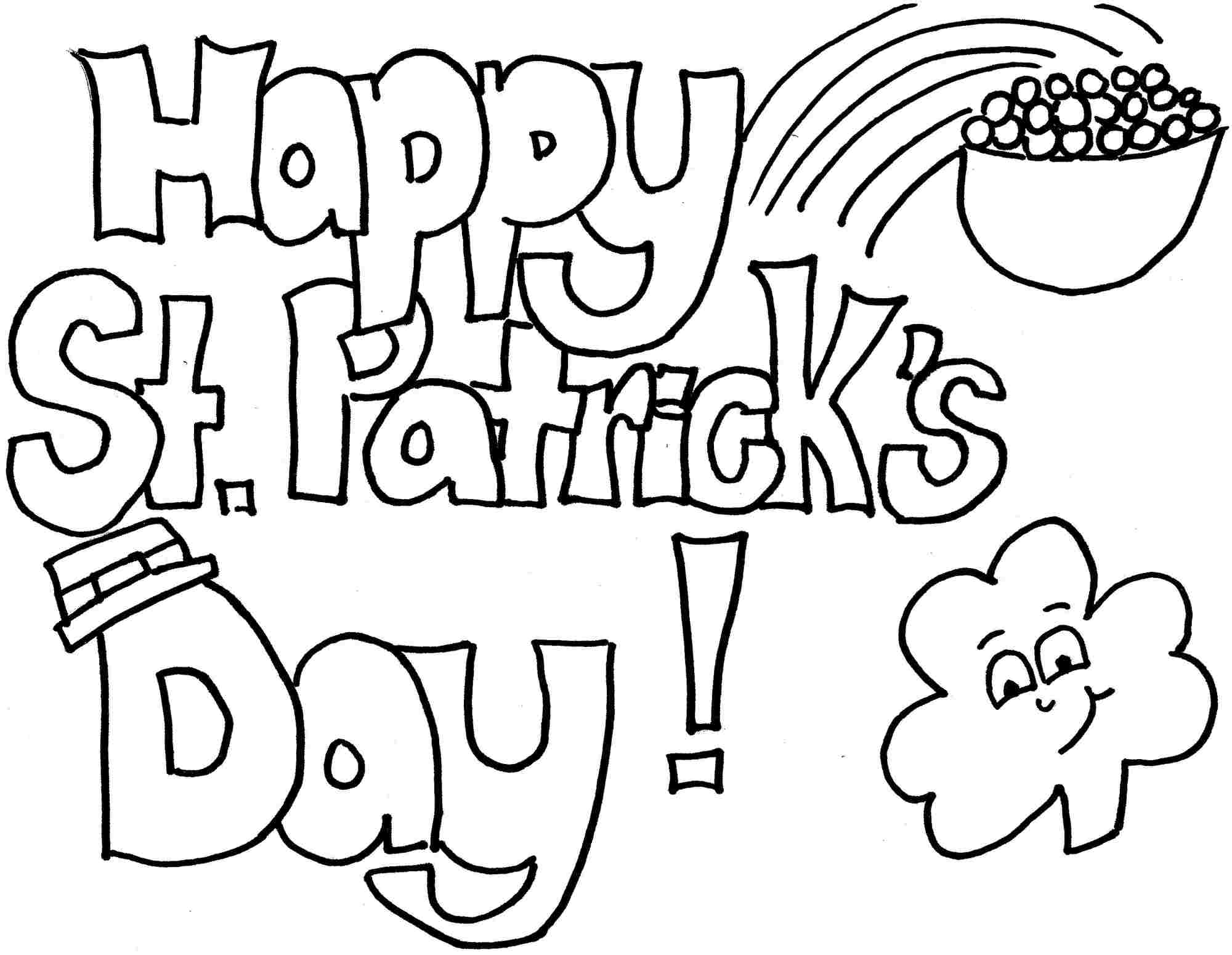 Bon Free St Patricku0027s Day Coloring Pages To Print For Kids. Download, Print And  Color!
