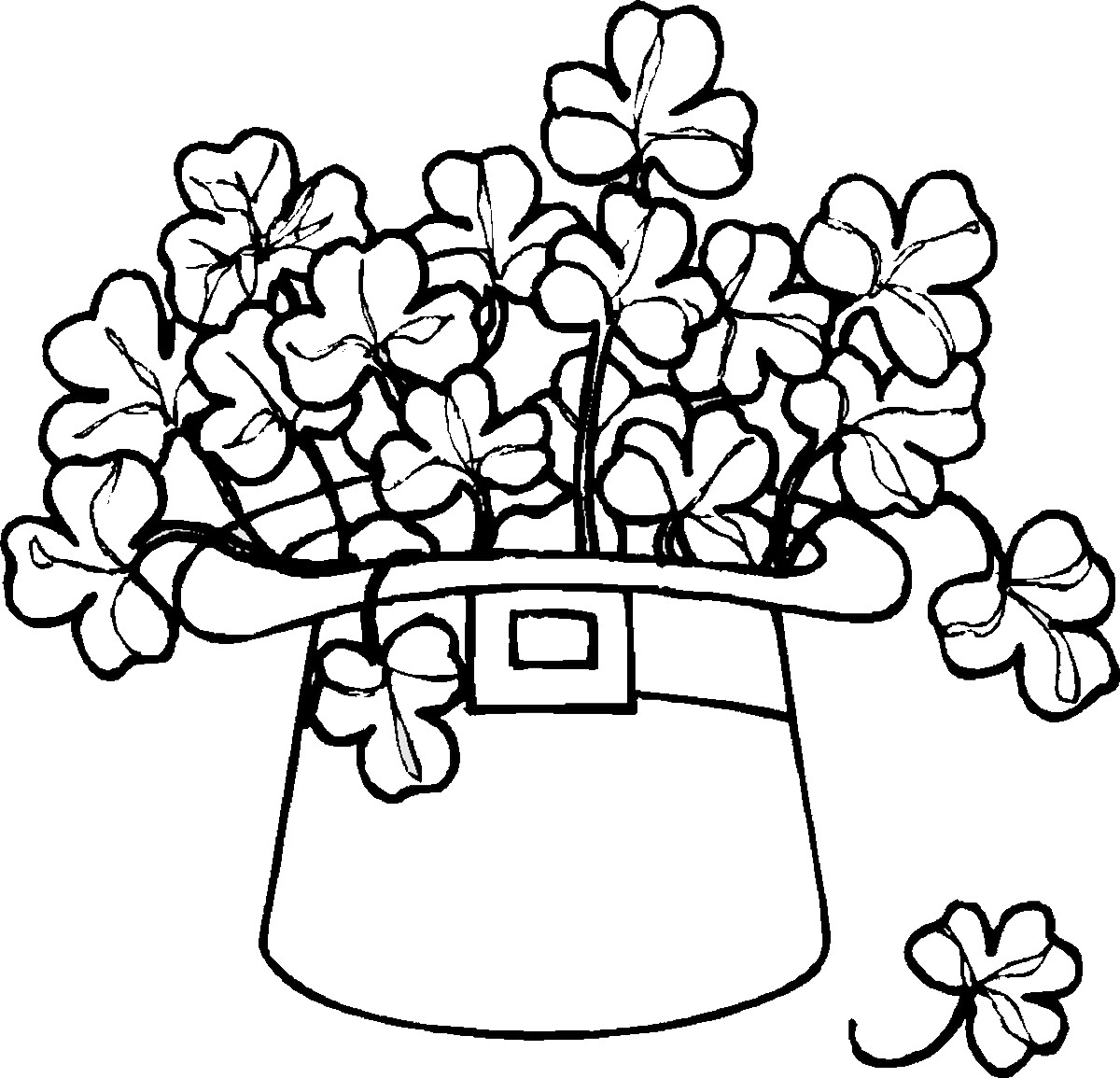 St Patrick\'s Day Coloring Pages for childrens printable for free
