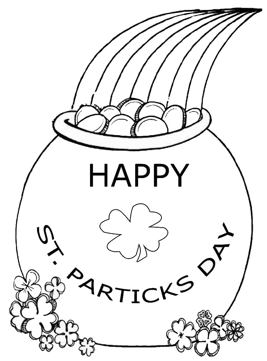 st patrick u0027s day coloring pages for childrens printable for free