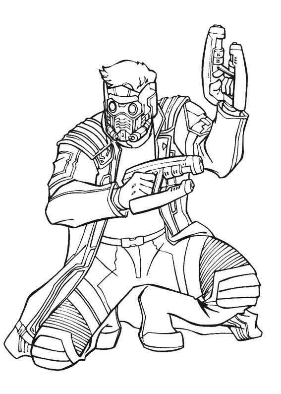 Guardians of the Galaxy coloring pages to download and ...