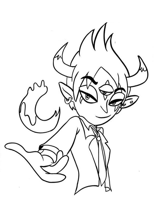 Star Vs The Forces Of Evil Coloring Pages To Download And Print For
