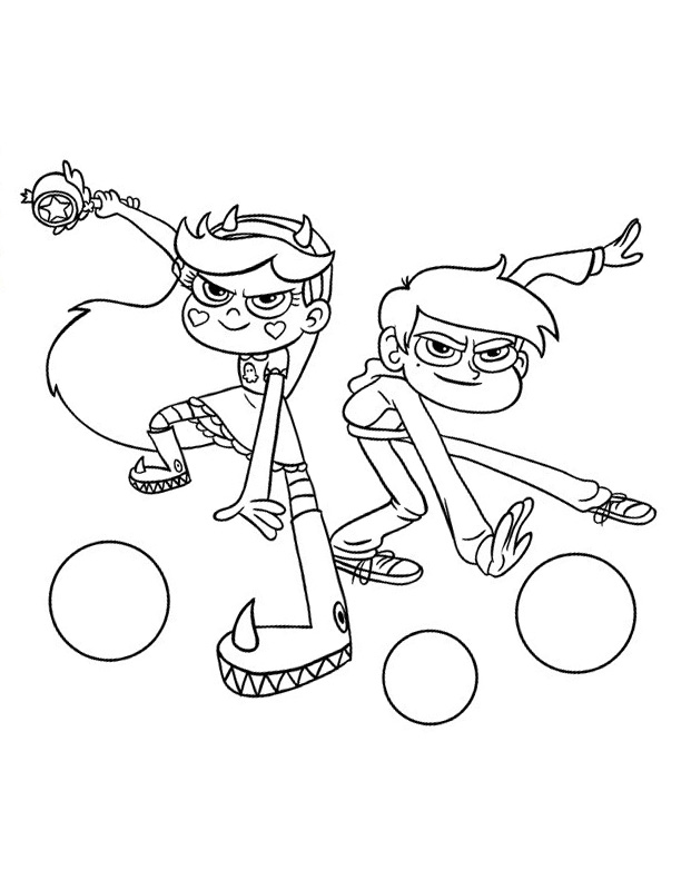 Star vs. the Forces of Evil coloring pages to download and print for ...