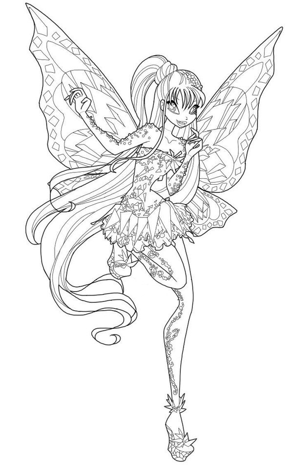 Winx Tynix coloring pages to download