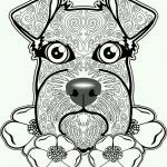 Antistress dog Coloring Pages
