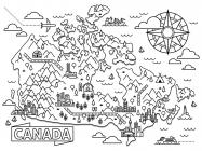 Canada coloring pages