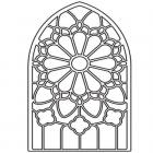 Stained glass window coloring pages
