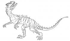 Raptor coloring pages