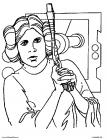 Star wars leia coloring pages