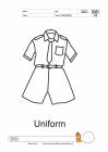 Uniform coloring pages