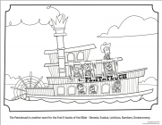 Steamboat coloring pages