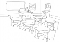 Class coloring pages