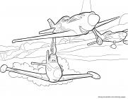 Plane coloring pages