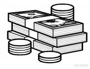 Money coloring pages