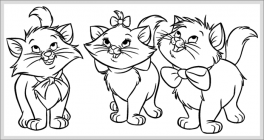 Marie cat coloring pages