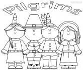 Pilgrim coloring pages