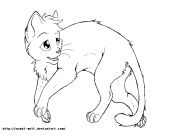 warrior cat cartoon coloring pages - photo#26